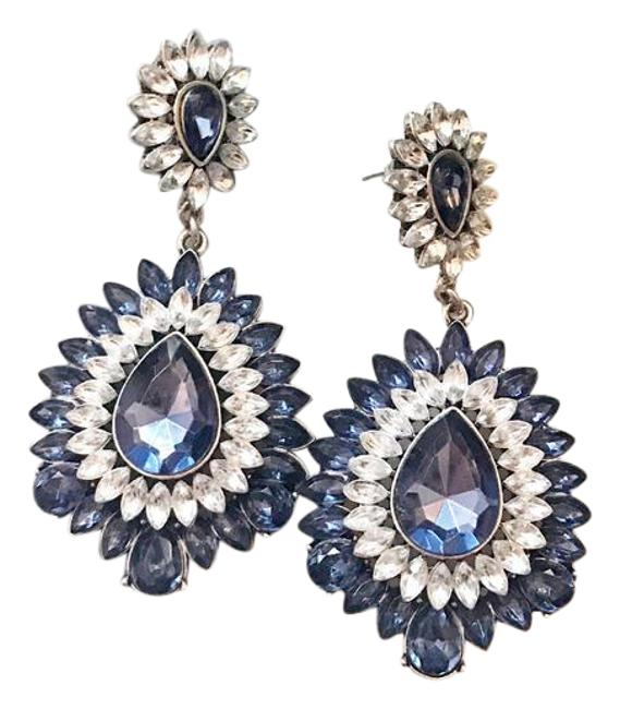 Item - Blue Sapphire Long Evening Earrings