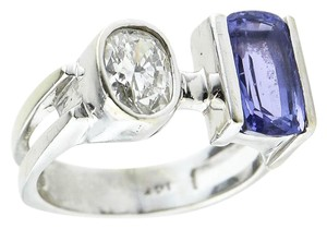 Amethyst Diamond Ring * Natural Amethyst and 1.30 Carat Diamond White Gold Ladies Ring