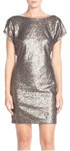 Vera Wang Sequined Lined Cocktail Dress