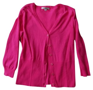 CAbi Fitted Pink Work Sweet V-neck Cardigan