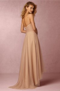 Monique Lhuillier NEW W/ Tags BHLDN Bamboo Nwt $290 Bhldn Monique Lhullier Bridesmaid High-low Tulle Gown Dress