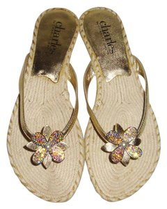 Charles David metallic gold Sandals