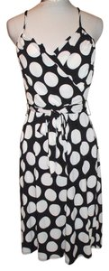 Merona short dress white and Black Polka Dot Polyester Pencil Women on Tradesy