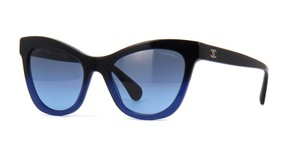 Chanel NEW Chanel Summer Butterfly Black Blue Ombre Cat Eye Sunglasses