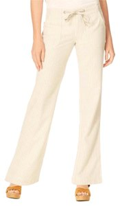 Sanctuary Classic Summer Linen Beach Striped Wide Leg Pants