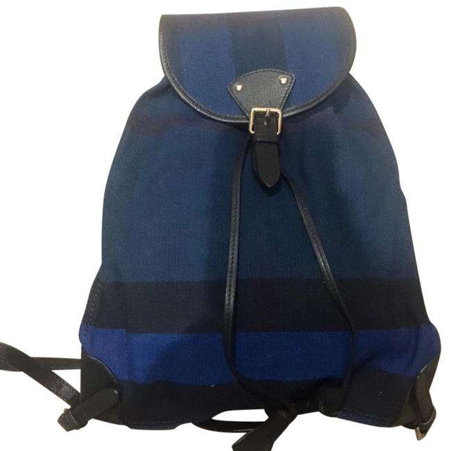 Item - Blue Check Canvas Backpack
