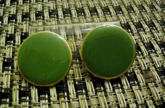Other 1960 Mod Earrings in Green Apple ( SML) Lucite very FAB pierced signed ART