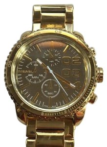 Diesel Diesel Double Down Chronograph Gold Dial Gold Tone Women's Watch