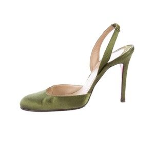 Christian Louboutin olive green Pumps