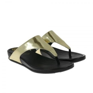 FitFlop Black/Gold Sandals