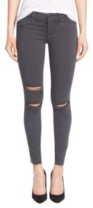 Hudson Jeans Skinny Casual Distressed Fitted Stretchy Skinny Jeans-Distressed