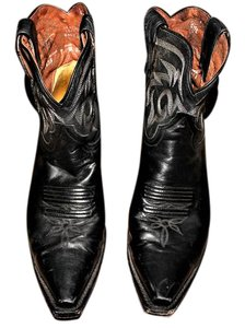 Dan Post Boots Western Horseback Riding Country And Western Black, White Embroidery Boots