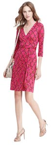 Diane von Furstenberg short dress Pink on Tradesy