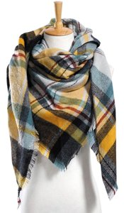 Jewels Gifts Co Yellow Plaid Scarf