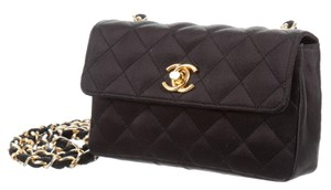 Chanel Classic Satin Evening Mini Flap Shoulder Bag