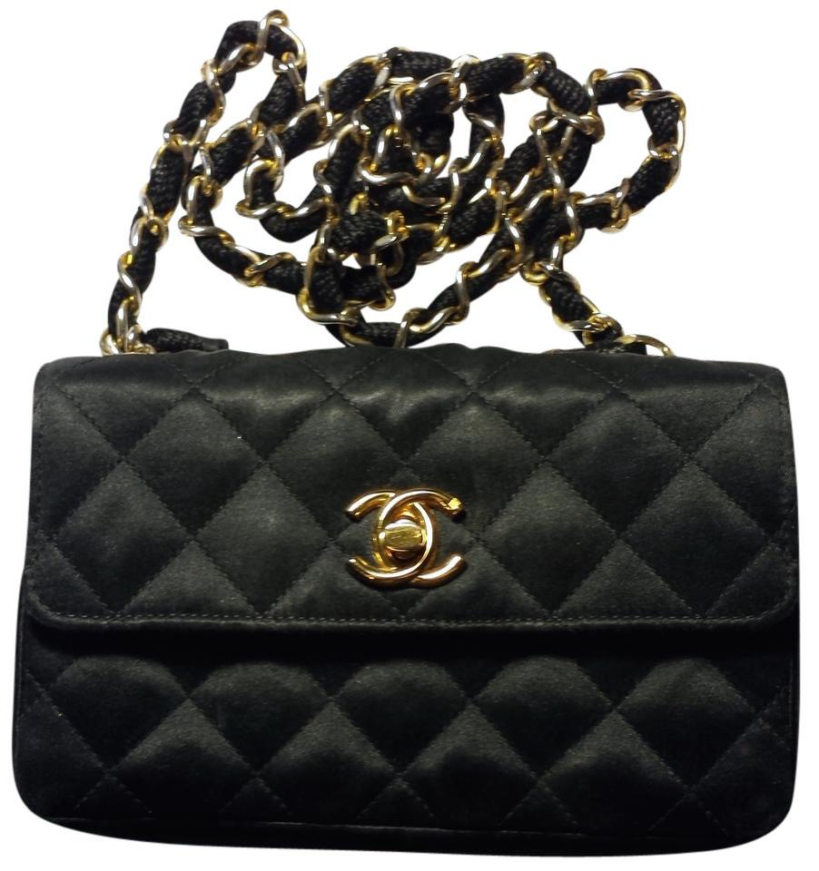 Chanel Classic Satin Evening Mini Flap Shoulder Bag Image 11.  123456789101112 f282d749d4cf7