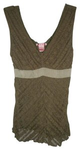LuLu Lame Top Olive Green