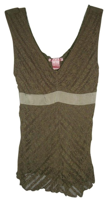 LuLu Lame Top Olive Green Image 0