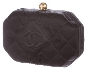 Chanel Classic Timeless Kisslock Minaudiere Black Clutch