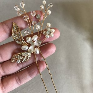 Brand-new Rose Gold Crystal Diamond Bling Hair Comb Rhinestone Wedding Engagement Prom Vine Leave