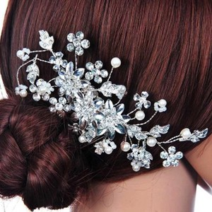Brand-new Crystal Cluster Wedding Bridal Engagement Hair Comb Pen Rhinestone