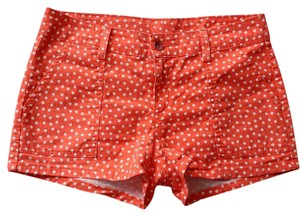 Splendid Polka Dot Mini Casual Preppy Mini/Short Shorts Pink