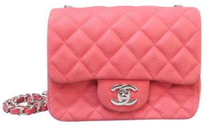 Chanel Mini Square Classic Flap Caviar Shoulder Bag