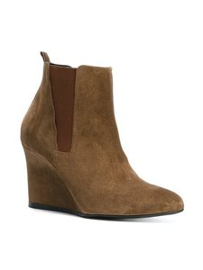 Lanvin Wedge Suede Brown Boots