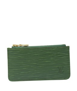 Louis Vuitton Louis Vuitton Green Epi Leather Card Holder (121668)