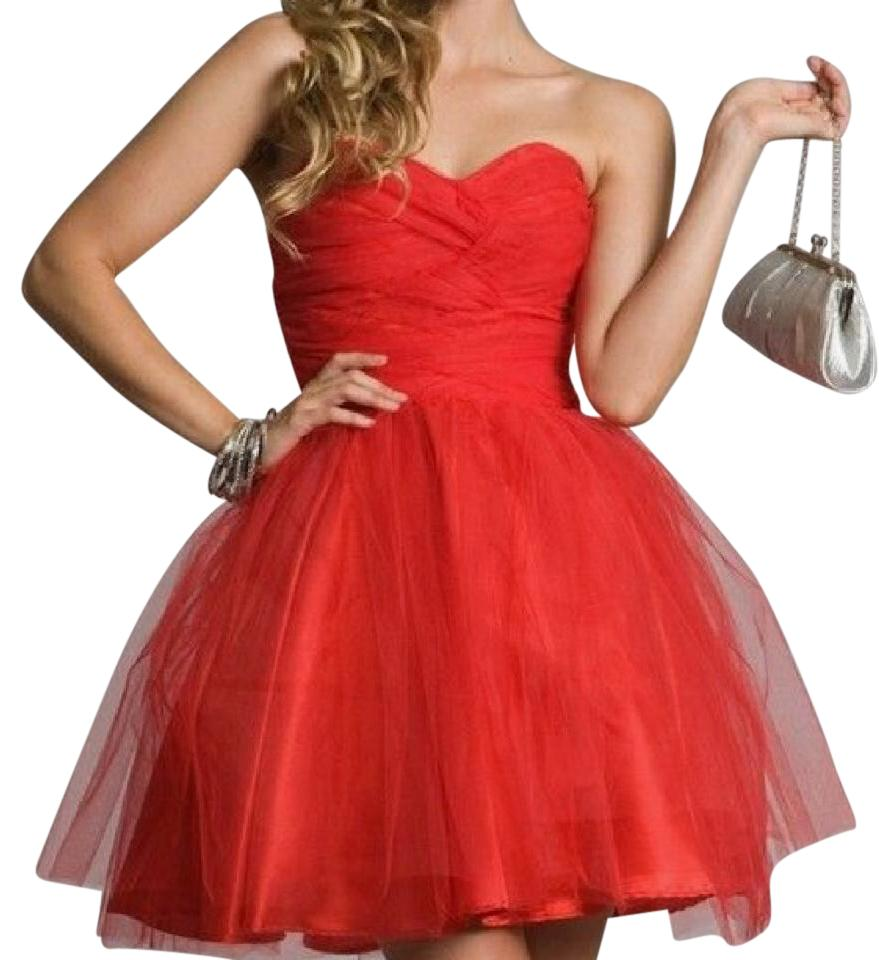 7a92b6c1a288 Masquerade Red Strapless Short Formal Dress Size 8 (M) - Tradesy