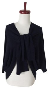 7 For All Mankind Merino Wool Cardigan Wrap Blue Sweater