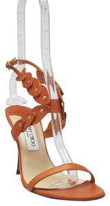 Jimmy Choo Leather Orange Sandals
