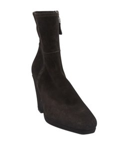 Prada Ankle Suede Brown Boots