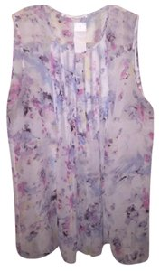Violet & Claire & Tank Sleeveless Floral Summer Top cream, floral