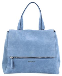 Givenchy Nubuck Satchel in light blue
