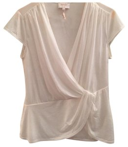 Laundry by Shelli Segal Ruched Flowy Top White