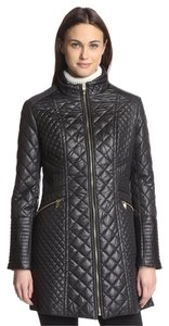 Via Spiga Quilted Zipper Machine Washable Coat