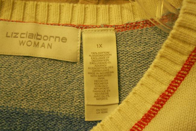 Liz Claiborne White Plus Size Sweater