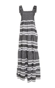 Black & White Maxi Dress by Dodo Bar Or Maxi Amal Cotton