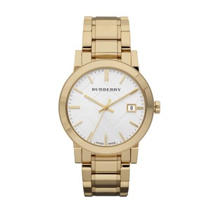 Burberry 100% NEW IN THE BOX Burberry Men's Large Goldtone S-Steel Bracelet