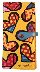 Romero Britto PU long wallet hearts