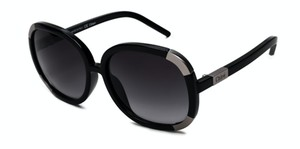 Chloé CHLOE Myrte Sunglasses Oversized Square Round Black CL2119 Tinted lens