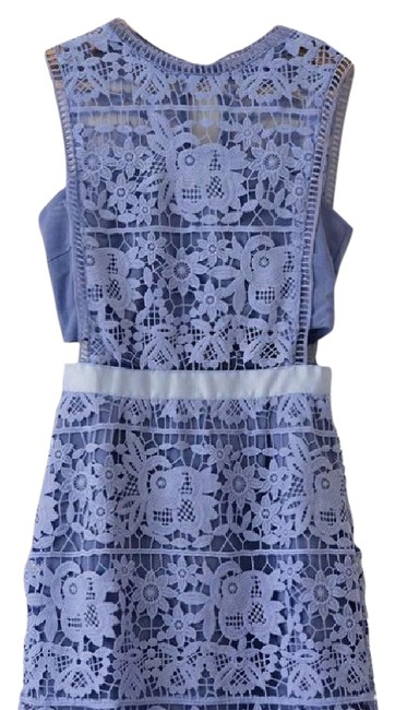 Item - Lilac/Periwinkle 'tyra' Lace Sleeveless Shift Short Cocktail Dress Size 4 (S)