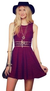 Free People short dress maroon on Tradesy