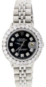 Rolex Rolex Datejust Ladies Jubilee 26mm Steel Watch w/Diamond Bezel & Dial