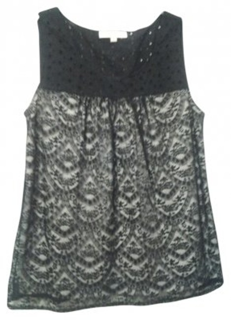 Preload https://item1.tradesy.com/images/ann-taylor-loft-black-white-lace-eyelet-tank-topcami-size-12-l-21250-0-0.jpg?width=400&height=650