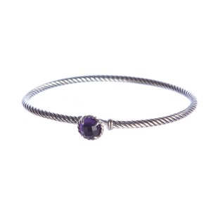 David Yurman Chatelaine Bracelet with Amethyst 3mm Size Medium $325 NEW