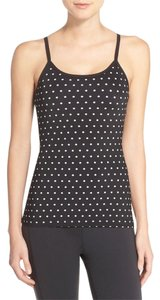 Kate Spade & Beyond Yoga Black Polka Dot Triple Bow Camisole Tank