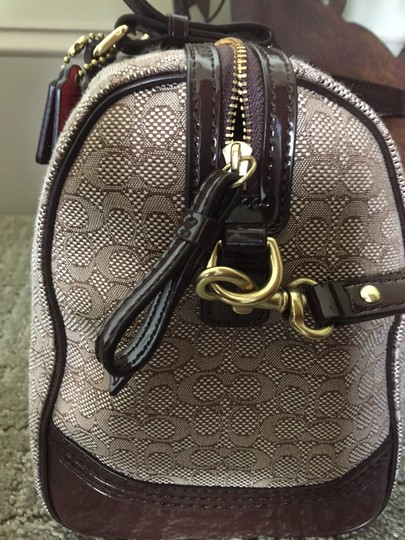 Coach Classy Patent Leather Gold Hardware Satchel in Brown