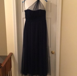 Alfred Angelo Navy Blue (ink) Modern Vintage Bridesmaid Gown Dress